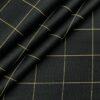Birla Century Men's Cotton Checks 1.60 Meter Unstitched Shirt Fabric (Black)