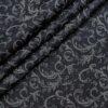 Birla Century Men's Cotton Jacquard 1.60 Meter Unstitched Shirt Fabric (Dark Blue)