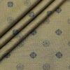 Birla Century Men's Cotton Jacquard 1.60 Meter Unstitched Shirt Fabric (Light Brown)
