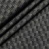 Tessitura Monti Men's Cotton Self Design 1.60 Meter Unstitched Shirt Fabric (Dark Grey)