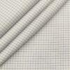 Tessitura Monti Men's Cotton Checks 1.60 Meter Unstitched Shirt Fabric (White)