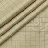 Tessitura Monti Men's Cotton Checks 1.60 Meter Unstitched Shirt Fabric (Oat Beige)