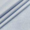 Tessitura Monti Men's Cotton Checks 1.60 Meter Unstitched Shirt Fabric (Sky Blue)