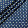 Nemesis Men's Cotton Printed Unstitched Shirt Fabric (Royal Blue)