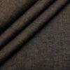 Burgoyne Men's Linen Solids Unstitched Shirting Fabric (Dark Brown)