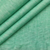 Burgoyne Men's Linen Solids Unstitched Shirting Fabric (Mint Green)