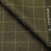 J.Hampstead Men's Polyester Viscose Checks Unstitched Suiting Fabric (Greenish Brown)