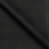 J.Hampstead Men's Terry Rayon Checks Unstitched Suiting Fabric (Black)