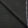 Cadini Italy Men's Wool Striped Super 90's Unstitched Trouser or Modi Jacket Fabric (Dark Grey