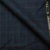 J.Hampstead Men's Wool Checks Super 120's Unstitched Trouser Fabric (Dark Blue
