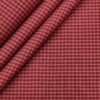 Exquisite Men's Cotton Checks Unstitched Shirting Fabric (Maroon Red)