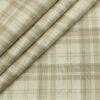 Soktas Men's Giza Cotton Checks Unstitched Shirting Fabric (Creamish Beige)