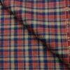 OCM Men's Wool Checks Unstitched Shirting Fabric (Multi)