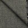 OCM Men's Wool Houndstooth Thick Reversible Unstitched Tweed Jacketing & Blazer Fabric (White & Black)