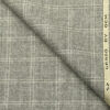 OCM Men's Wool Checks Medium & Soft 2 Meter Unstitched Tweed Jacketing & Blazer Fabric (Light Grey)