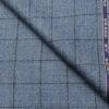 OCM Men's Wool Checks Fine & Soft 2 Meter Unstitched Tweed Jacketing & Blazer Fabric (Blue)
