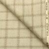 OCM Men's Wool Checks Thick & Soft 2 Meter Unstitched Tweed Jacketing & Blazer Fabric (Beige & Brown)