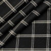 Cadini Men's Cotton Checks 2 Meter Unstitched Shirting Fabric (Black)