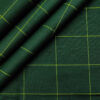 Cadini Men's Cotton Checks 2 Meter Unstitched Shirting Fabric (Dark Pine Green)