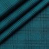 Cadini Men's Cotton Checks 2 Meter Unstitched Shirting Fabric (Dark Sea Green)
