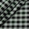 Cadini Men's Cotton Checks 2 Meter Unstitched Shirting Fabric (Light Grey)