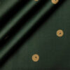 Donzito Men's Cotton Printed 2.25 Meter Unstitched Shirting Fabric (Dark Green)