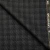 J.Hampstead Men's Wool Checks Super 90's 3.75 Meter Unstitched Suiting Fabric (Dark Grey)