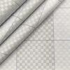 Tessitura Monti Men's Giza Cotton Checks 2 Meter Unstitched Shirting Fabric (Light Grey)