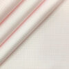 Tessitura Monti Men's Giza Cotton Checks 2 Meter Unstitched Shirting Fabric (White & Pink)