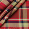 Monza Men's Giza Cotton Checks 2 Meter Unstitched Shirting Fabric (Black & Red)