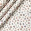 PEE GEE Men's Cotton Printed 2.25 Meter Unstitched Shirting Fabric (White & Orange)