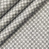PEE GEE Men's Cotton Printed 2.25 Meter Unstitched Shirting Fabric (White & Grey)