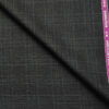 Raymond Men's Wool Checks 3.75 Meter Unstitched Suiting Fabric (Dark Grey)