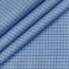Arvind Men's Cotton Checks Unstitched Shirting Fabric (Light Blue)