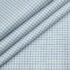 F.M. HAMMERLE Men's Giza Cotton Checks Unstitched Shirting Fabric (White)