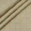 Soktas Men's Giza Cotton Checks Unstitched Shirting Fabric (Tan Beige )