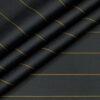 Soktas Men's Giza Cotton Striped Unstitched Shirting Fabric (Dark Grey)