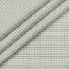 Soktas Men's Giza Cotton Checks Unstitched Shirting Fabric (Milky White)