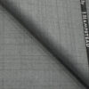 J.Hampstead Men's Polyester Viscose Checks 3.75 Meter Unstitched Suiting Fabric (Light Grey)