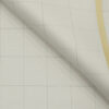 J.Hampstead Men's Polyester Viscose Structured 3.75 Meter Unstitched Suiting Fabric (Cream)