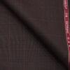Raymond Men's Polyester Viscose Checks Unstitched Suiting Fabric (Dark Wine)