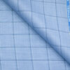 Raymond Men's Polyester Viscose Checks Unstitched Suiting Fabric (Sky Blue)