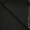 J.Hampstead Men's Wool Checks Super 120's 1.30 Meter Unstitched Trouser Fabric (Black & Blue)