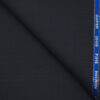 J.Hampstead Men's Wool Checks Super 100's1.30 Meter Unstitched Trouser Fabric (Dark Navy Blue)