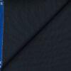 J.Hampstead Men's Wool Structured 1.30 Meter Unstitched Trouser Fabric (Dark Blue)