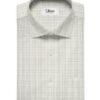Tessitura Monti Men's Giza Cotton Checks 2 Meter Unstitched Shirting Fabric (White & Grey)