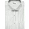 Soktas Men's Giza Cotton Striped 2 Meter Unstitched Shirting Fabric (White & Blue)