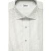 Soktas Men's Giza Cotton Striped 2 Meter Unstitched Shirting Fabric (White & Grey)