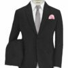 Don & Julio Men's Terry Rayon Structured 3.75 Meter Unstitched Suiting Fabric (Black)