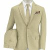 Siyaram's Men's Terry Rayon Structured 3.75 Meter Unstitched Suiting Fabric (Buttermilk Beige)